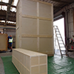 These cases (the largest at 6m high) were made-to-order for major TV company, and were used on a film set promoting the Design Museum in West London.t