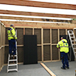 Our on-site team constructing a bespoke 'show-case' at ZSL London Zoo.