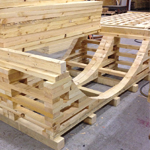 Saddle cradle design for securing cabe drums for airfreight