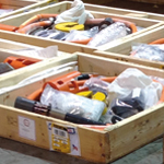 Typical stock inventory and segregation services, verified and packed awaiting inspection