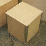 Metal edged riveted plywood cases, light weight and ideal for light goods for airfreight