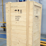 Close boarded paper lined BER case for ocean or road freight